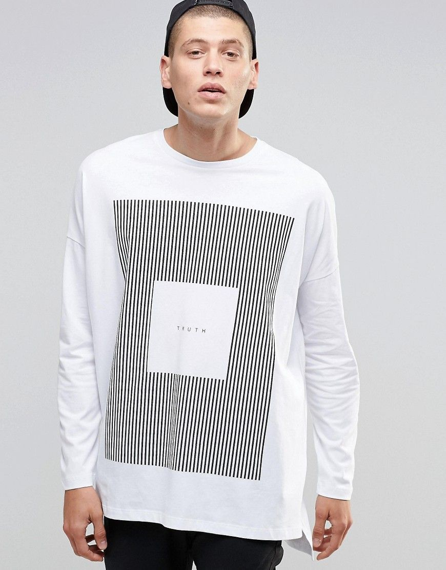 a4c29e99c Image 1 of ASOS Extreme Oversized Long Sleeve T-Shirt With Truth Print