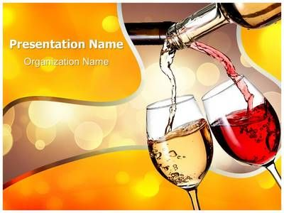 Pouring Wine Powerpoint Template Is One Of The Best Powerpoint