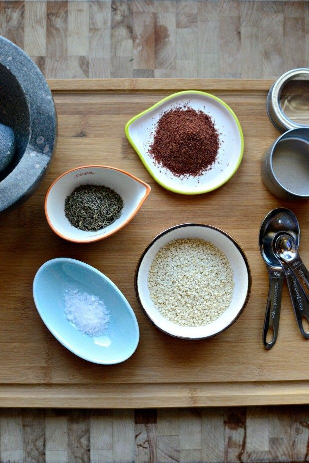 homemade za'atar--I need to make this, since the za'atar I bought in Israel is almost gone