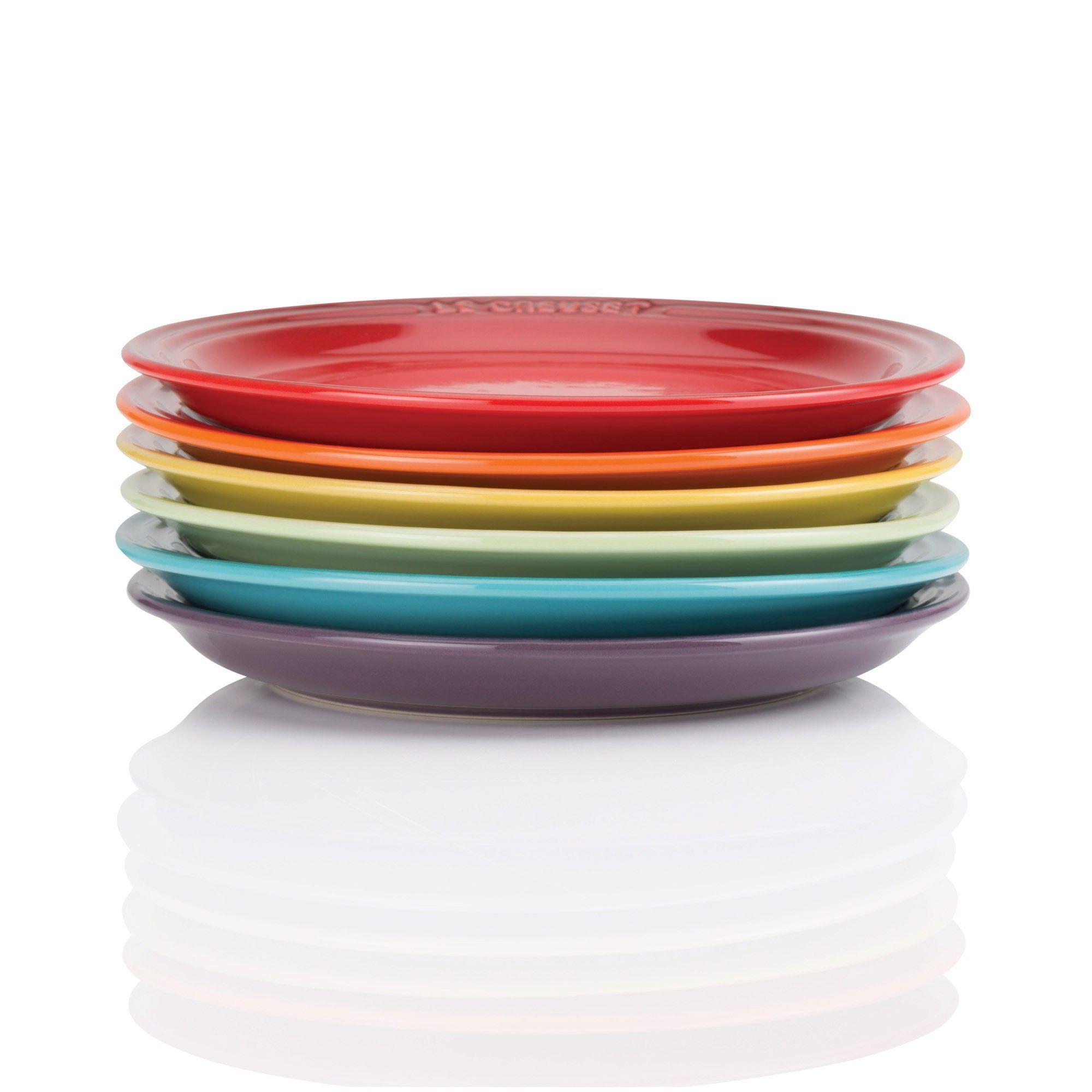 £78 from Le Creuset. Rainbow Tea Plates Set of Six  sc 1 st  Pinterest & 78 from Le Creuset. Rainbow Tea Plates Set of Six   Kitchen ...