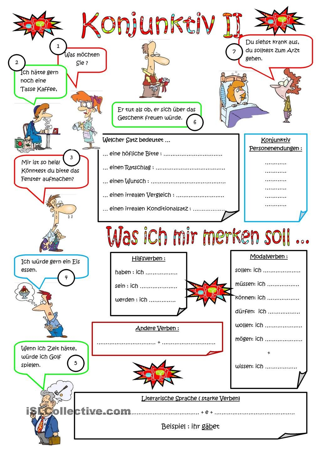 Konjunktiv II | Német | Pinterest | German, Deutsch and German language