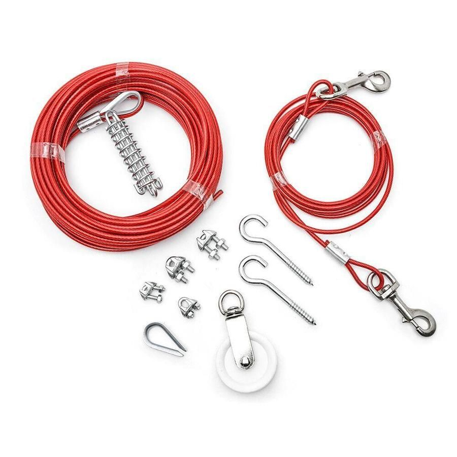 Campbell Commercial 1 Ft 1 8 In Weldless Red Steel Cable By The