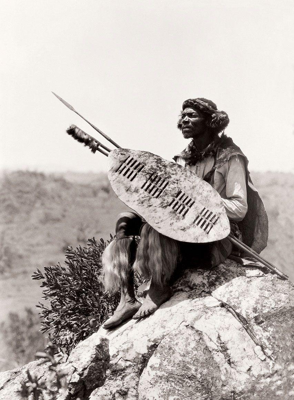 Africa   Ben Mdiliza, Shangaan warrior, Thabina, Limpopo. South Africa. Early 1900s   ©Alfred Duggan-Cronin / McGregor Museum