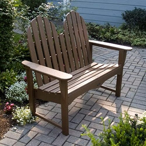 Fine Polywood Classic Adirondack 48 In Bench Adirondacks Pabps2019 Chair Design Images Pabps2019Com