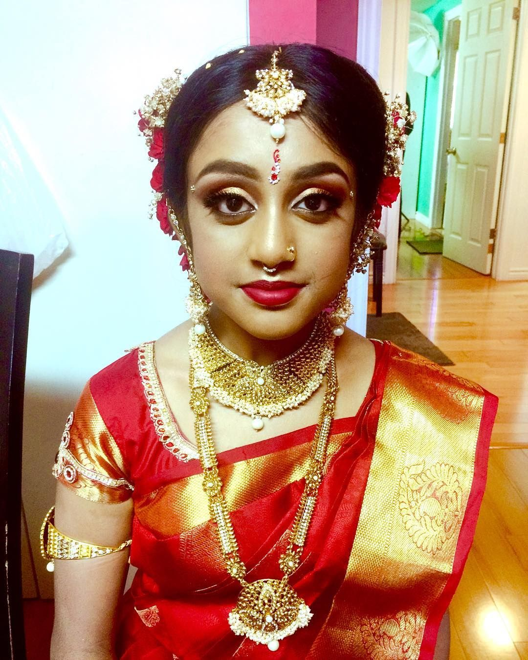 Puberty Ceremony ️ ️ #rs_bridal_makeup #red #puberty # ...