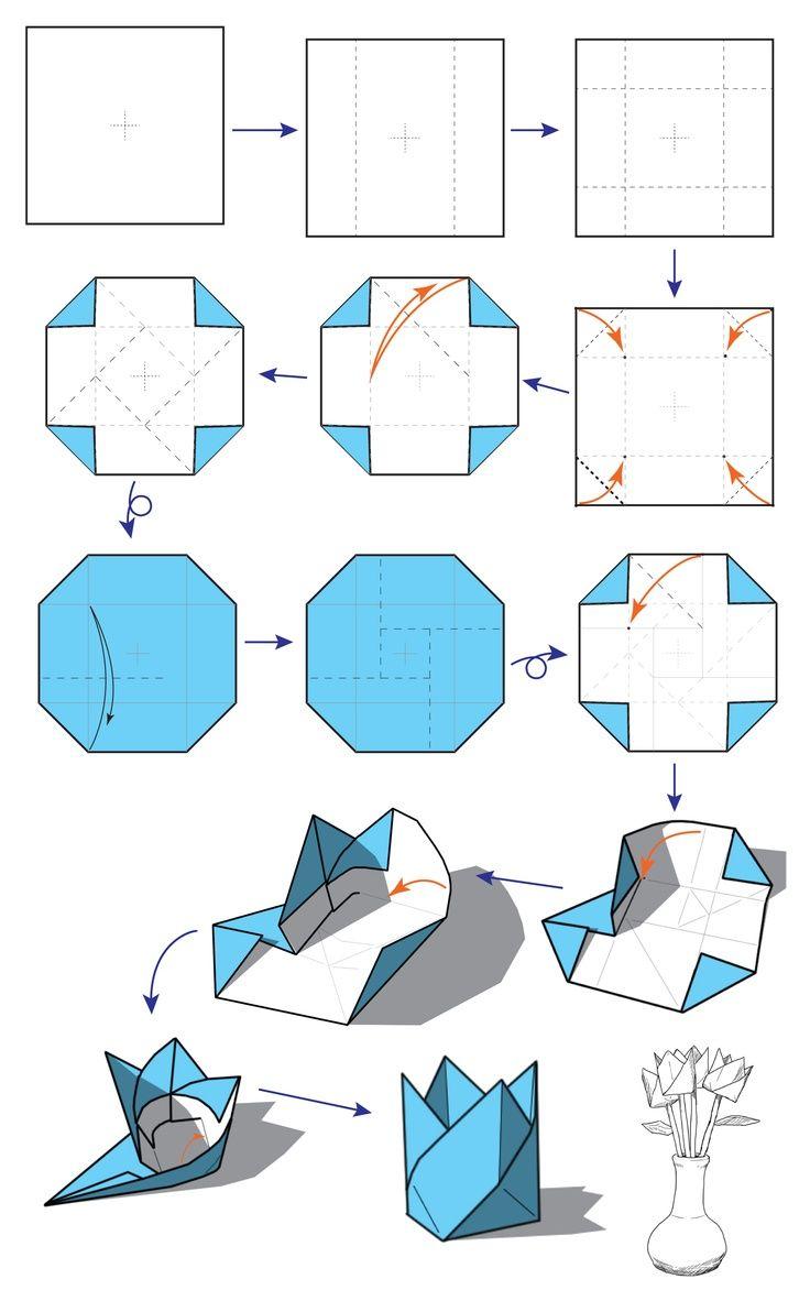 Twist Box Diagram Paper Pinterest Origami And Flowers Diagrams Diy