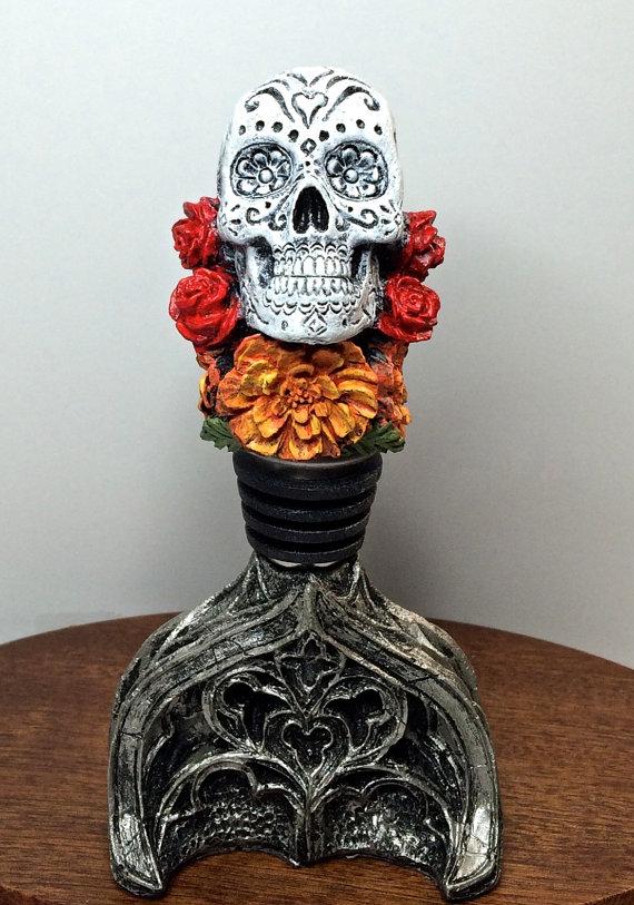 Dia de los Muertos Winestopper Full Color Bottles
