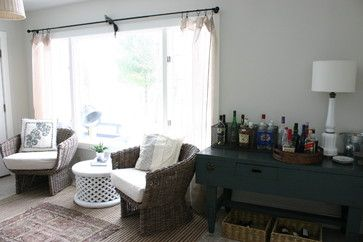 I like this unique sideboard for a mini bar.