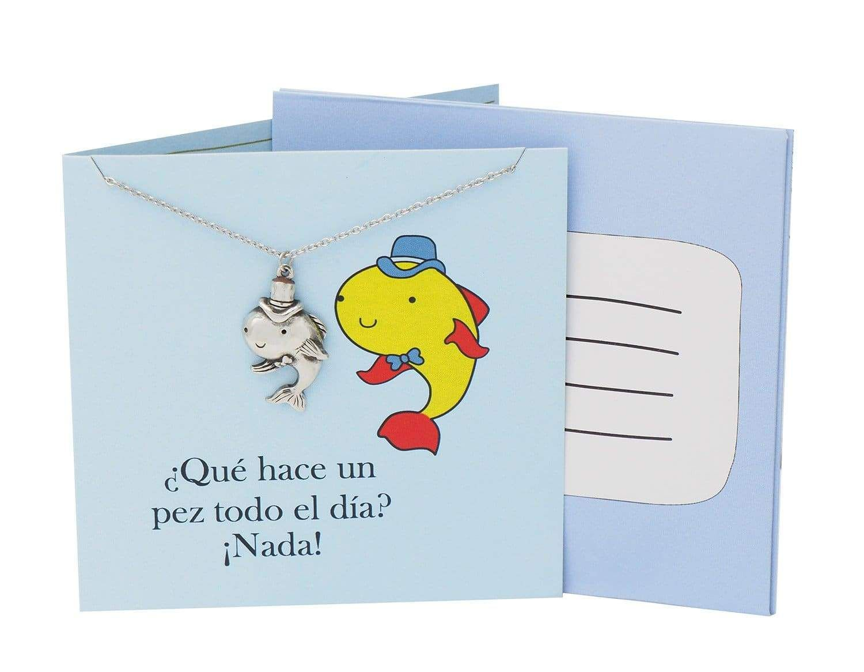 Safira Fish Necklace Funny Puns Spanish Birthday Cards Spanish Birthday Cards Funny Birthday Greeting Cards Birthday Greetings Funny