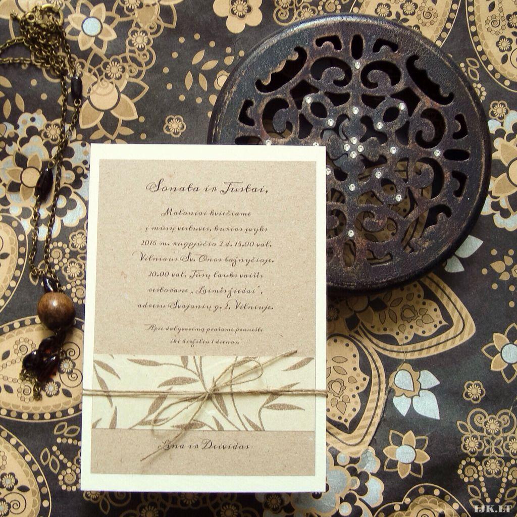 Oriental rustic wedding invitation | Rytietiški rustikaliniai ...