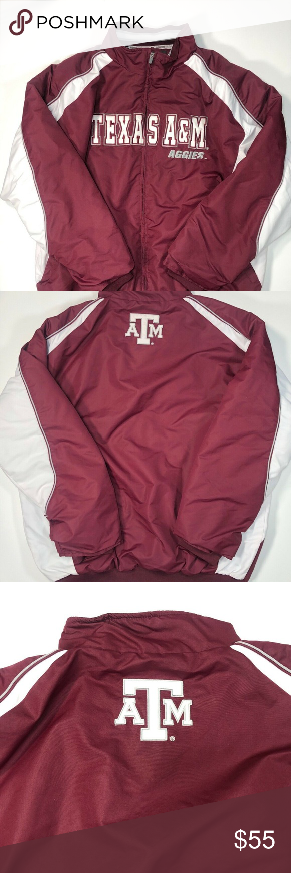 Texas A M A Puffer Jacket Full Zipper Size 3xl Measurements And Details Available On The Pictures Reasonable Offers Ar Jackets Puffer Jackets Clothes Design [ 1740 x 580 Pixel ]