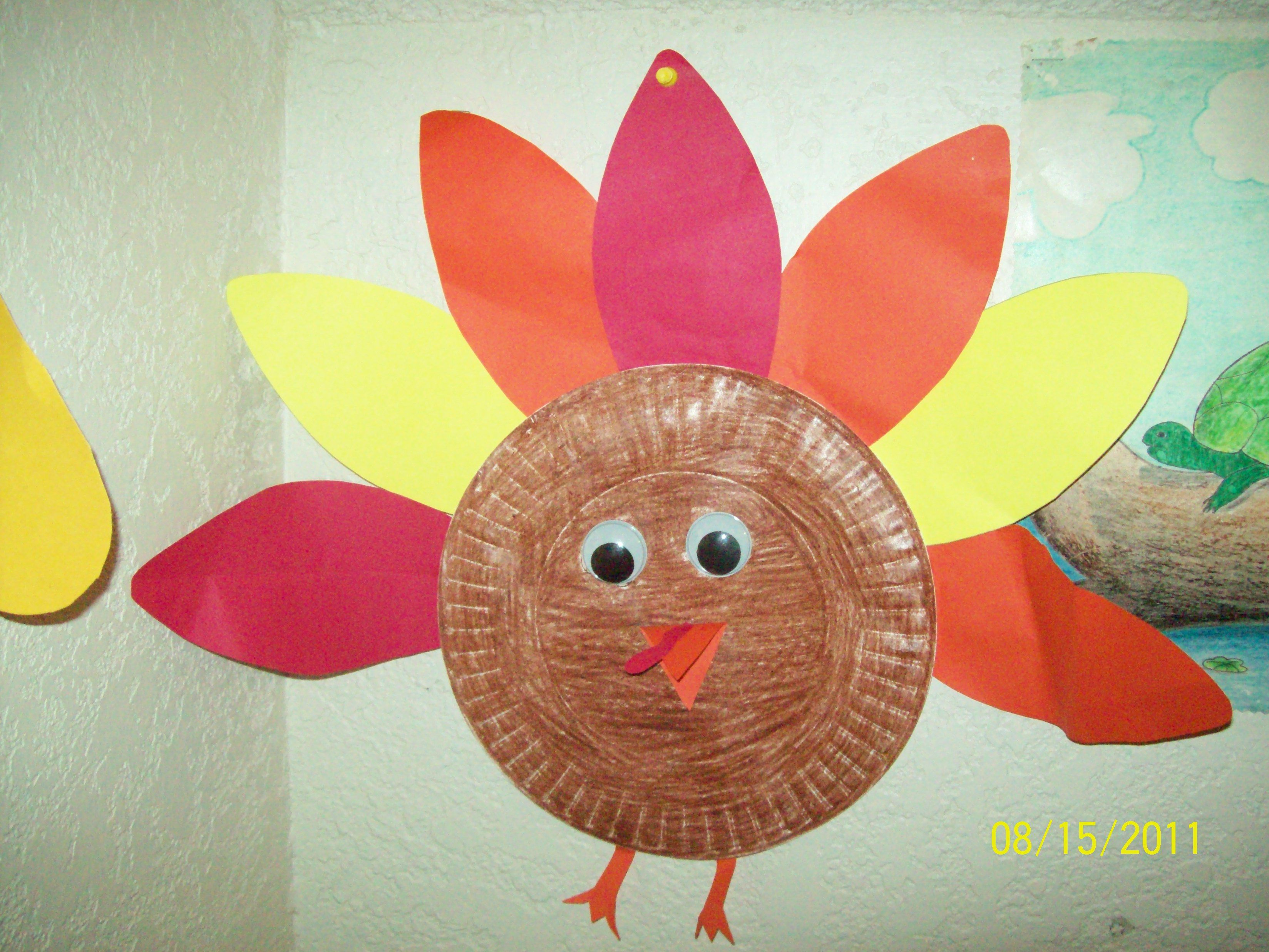 turkey craft thanksgiving preschool craft for kids made with