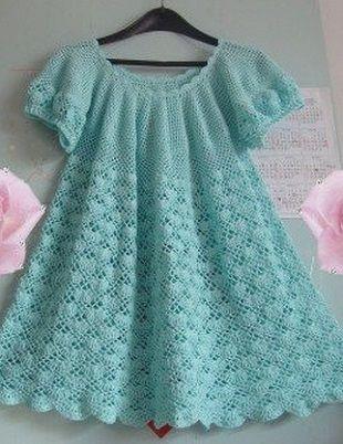 схемы узоров для детского платья крючком все для детей вязание