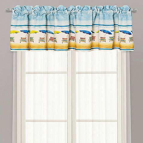 Boys Room Window Valance Beach Theme Bathroom Valance