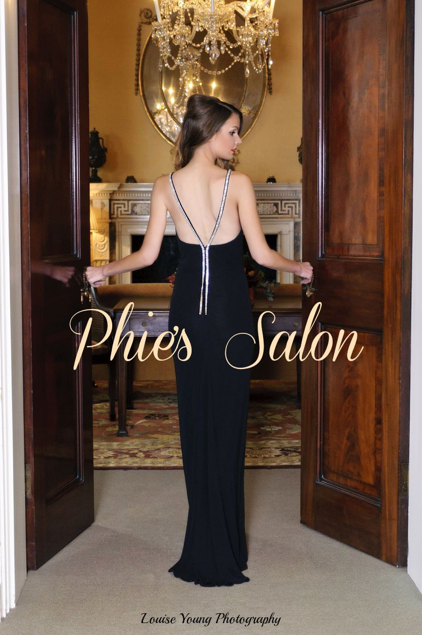hair and makeup by Phie's Salon party season christmas long dress curly hair