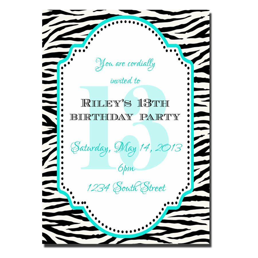 13th Birthday Party Invitations For Girls 13th Birthday Invitations Girl Birthday Party Invitations Birthday Party Invitation Wording
