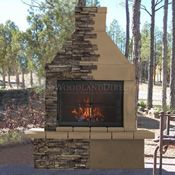Mirage Stone Outdoor Wood Burning Fireplace W/BBQ