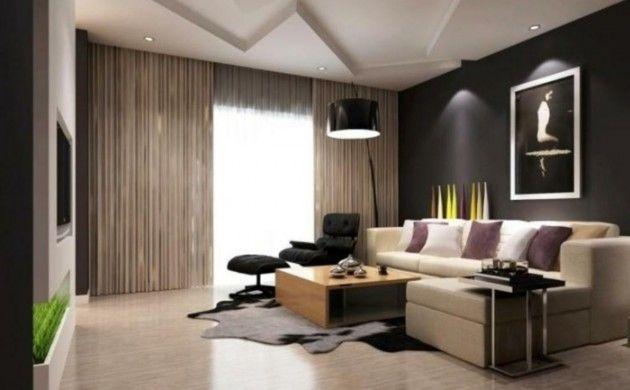 schönes wohnzimmer beiges sofa fellteppich dekoideen deco - deko ideen wohnzimmer