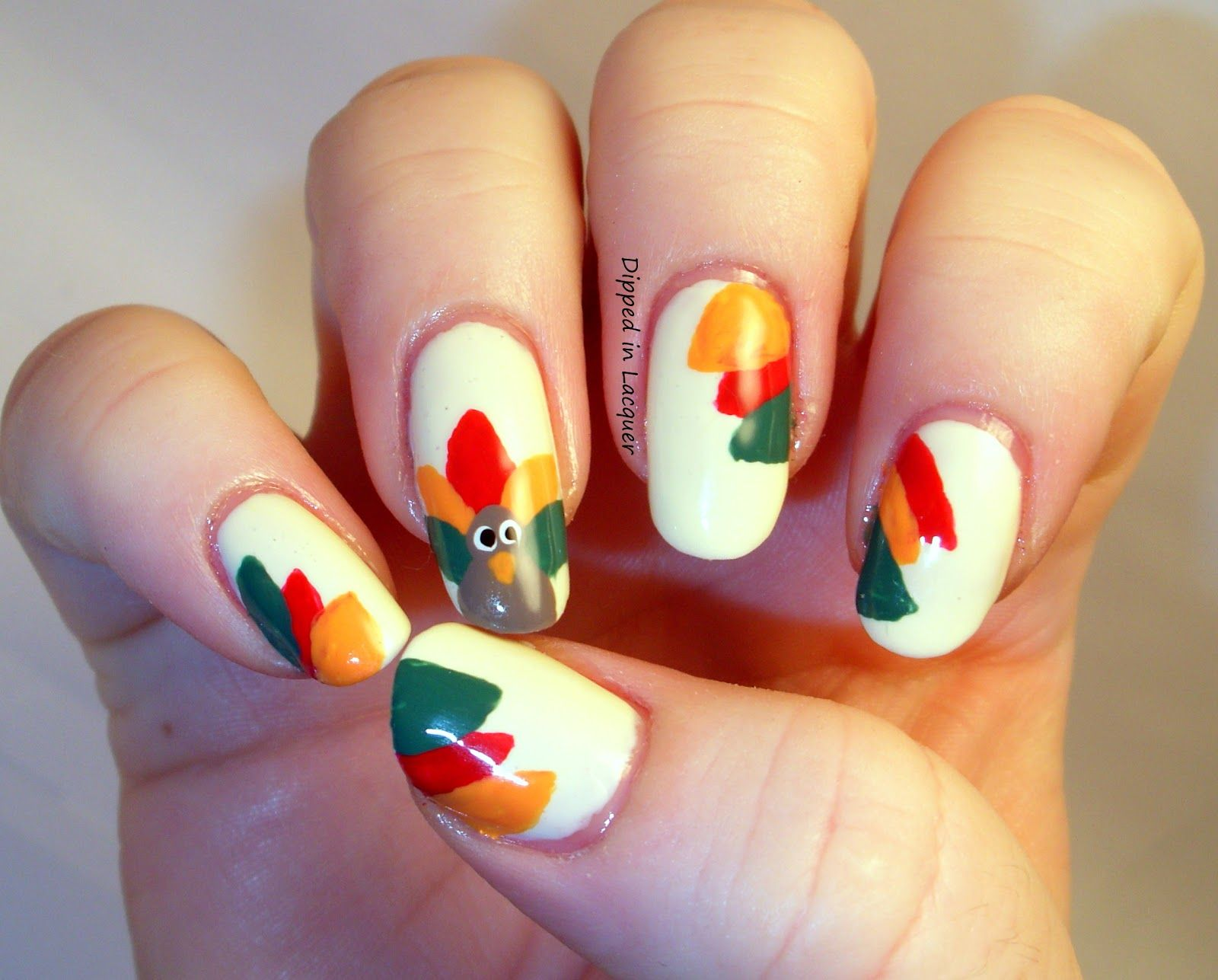 60 Easy Thanksgiving Nail Art Ideas | Thanksgiving nails ...