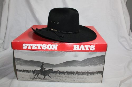 109677a0 Black Stetson 4x Beaver Thunder Rolls Cowboy Western Hat 7 3/8 Buckle  Detail w/ Box | Shoes / Clothing / Accessories | Hats, Western hats, Cowboy  hats