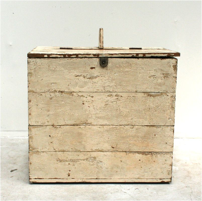 Provençale Rustic Firewood Storage Box, Leather Handle; Late 19th Cetury  Gorgeous