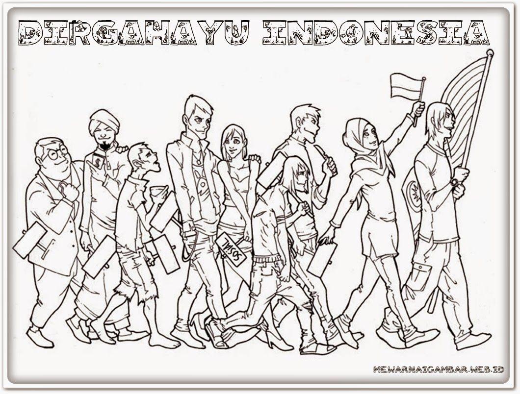Kumpulan Sketsa Gambar Kemerdekaan 72