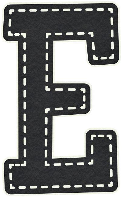 Gifs letras may sculas para imprimir de color negro - Letras decorativas pared ...