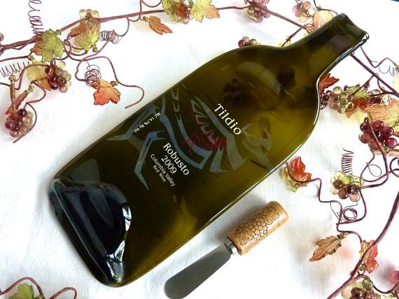 Bottle · Slumped Wine Bottle Cheese Plate ... : wine bottle cheese plate - pezcame.com