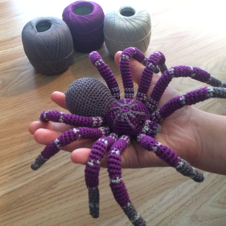 Beautiful Crochet Tarantula Crochet Spider Brazilian Pinkbloom
