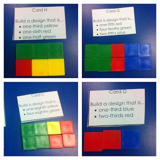 Fraction Design blocks -task cards