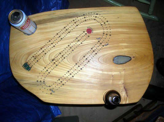"""Custom Made """"What More Could You Want"""" Cribbage Table"""