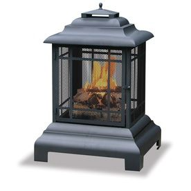 Blue Rhino 24 5 In W Black Cast Iron Wood Burning Fire Pit Waf501cs