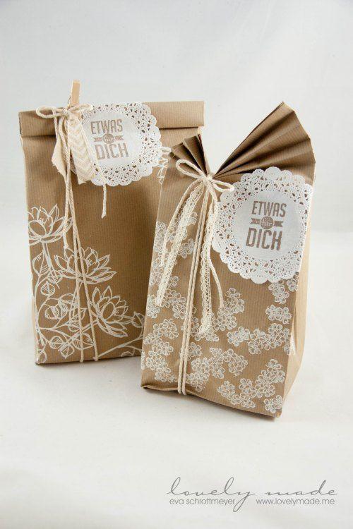 Anleitung große Tüte falten Geschenkverpackungen Pinterest
