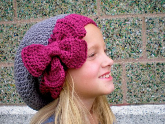 PATTERN: 3 in 1 hat pattern, Kids\' Slouch Hat, slouchy beanie, easy ...