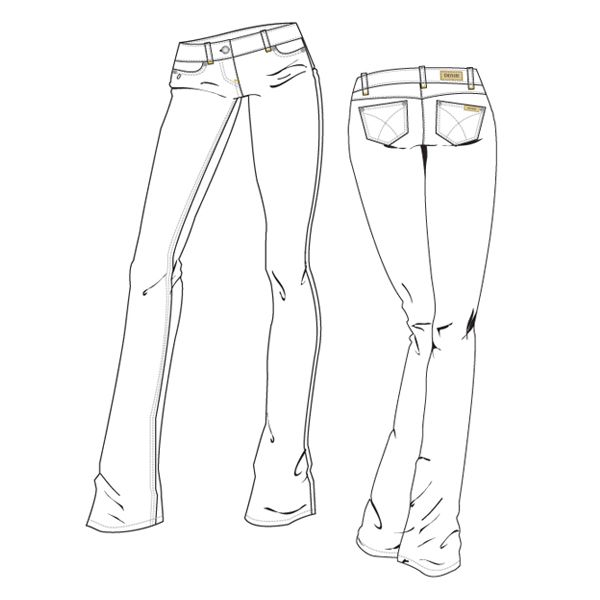 How To Draw Womens Denim Jeans 09 Jpg 600 600 Women Denim Jeans Drawing Clothes Designs To Draw