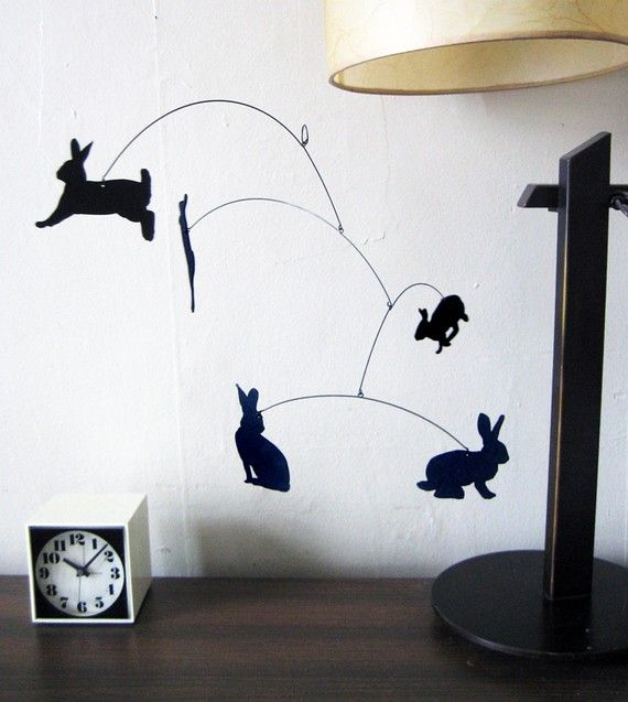 36 love this honey bunny mobile i would buy 2 and hang them right next to each other to create. Black Bedroom Furniture Sets. Home Design Ideas