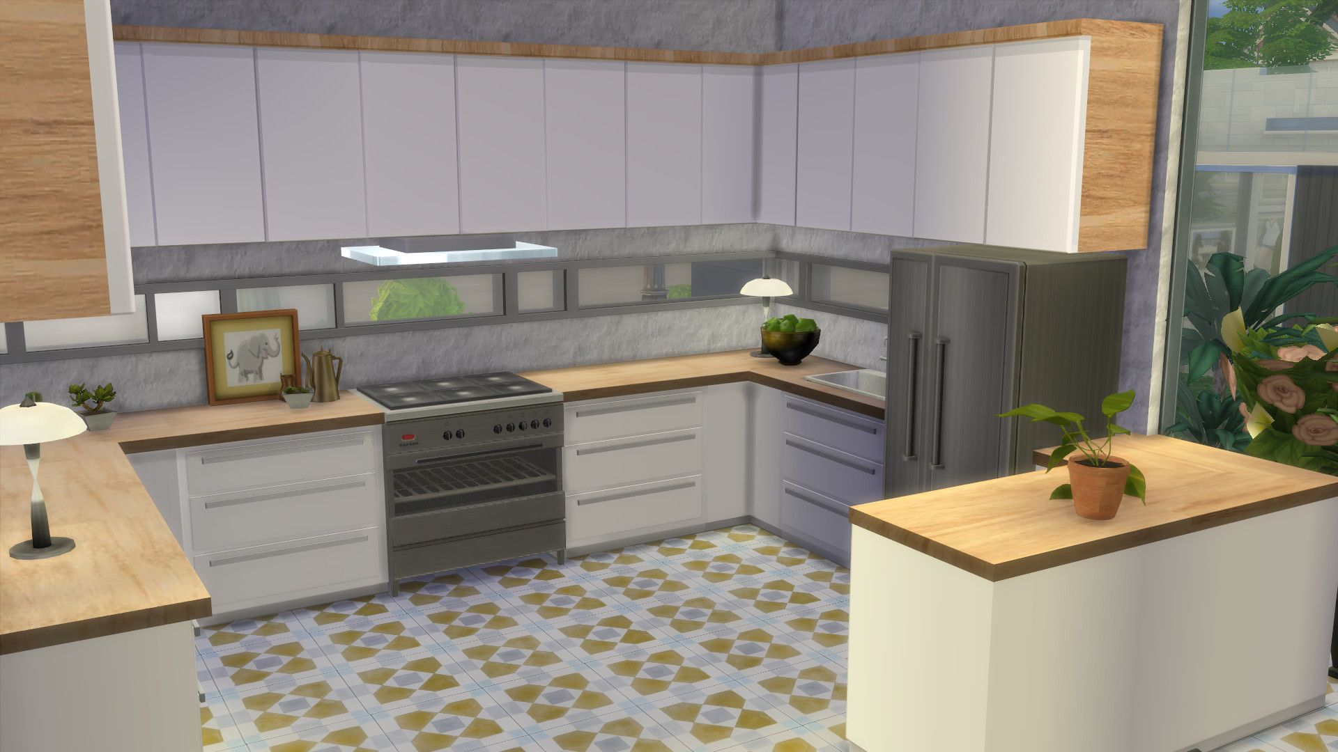 mod the sims kitchen from perfect patio stuff no from No Backsplash ...
