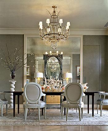 oversized mirrors are great for almost any room decorating with