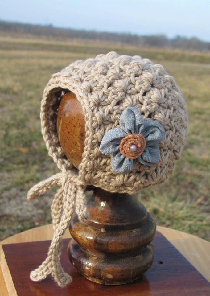 Capota, a crochet, de estilo vintage. | DIY Crochet peques: Gorros ...