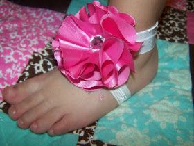The Misadventures of Handmade: Simple-Sew Barefoot Sandals and Flower Tutorial
