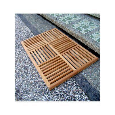 Highland Dunes Grade A Rectangle Striped Bath Rug Wayfair Ca In 2020 Wood Shower Mat Bath Floor Mats Wood Basket