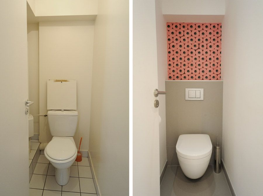 Photos de r alisations d 39 un d corateur d 39 int rieur qui vous montre ses avant apr s paris for Amenagement toilette