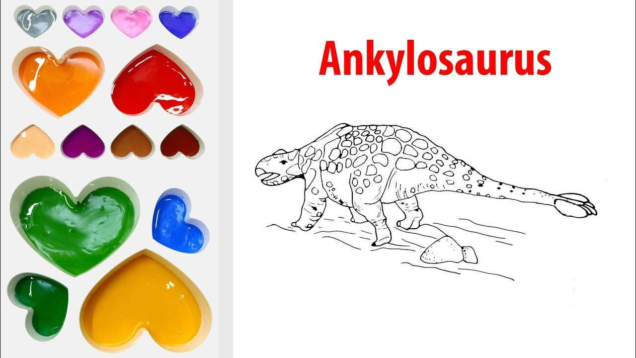 How To Draw A Dinosaur For Kids-Draw Ankylosaurus Coloring Book Page ...