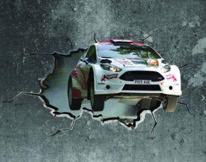 Rally Car Wall Mural