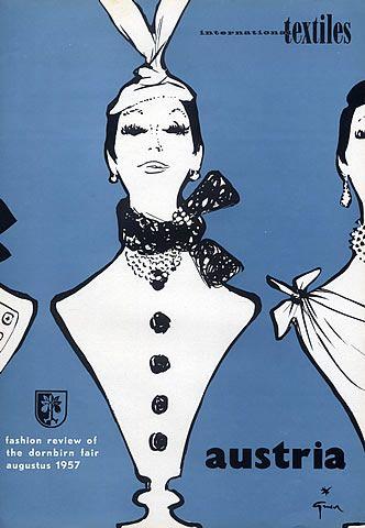 René Gruau 1957 Fashion Illustration