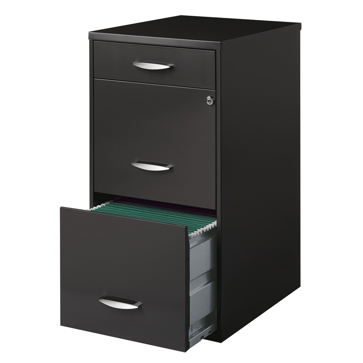 Office Designs 3 Drawer Vertical File Cabinet Home Kitchen