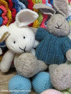 Free Sunny Bunny Knit Pattern Small Size Knitting
