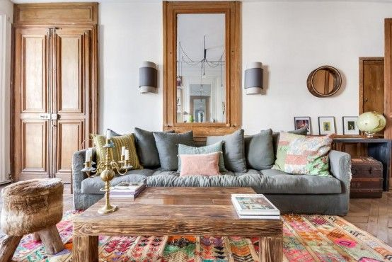 Lively Eclectic Paris Apartment With Boho Allure Digsdigs