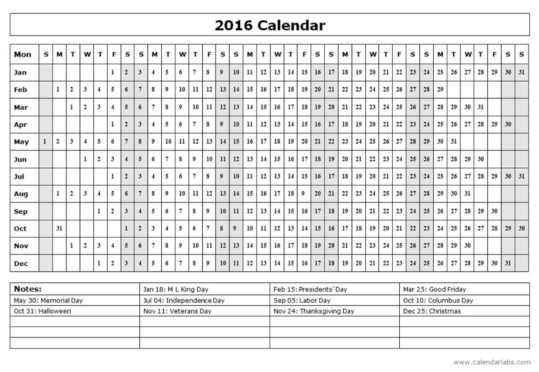 http://www.calendarlabs.com/2016-calendar-templates.php ...