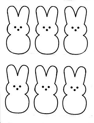 Free Peeps pattern. I'm going to make felt Peeps